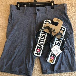 Trunks Swim Shorts + Quicksilver Flip Flop Bundle